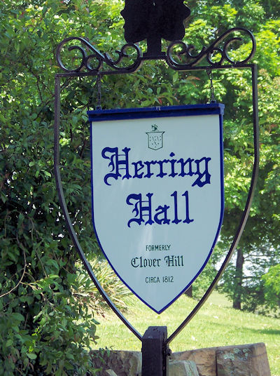 Herring Hall sign